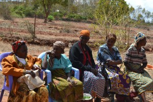 Women listening to the information being shared