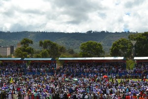 Thousands of ABC congregants at Machakos Stadium