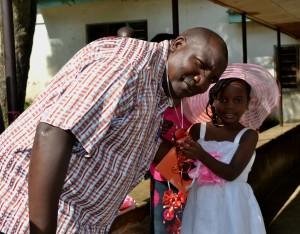 Ven John Gichimu being welcomed in Mwanza.