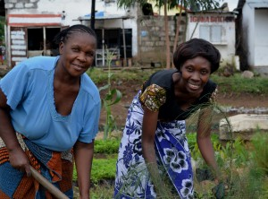 Ms. Anna Kitula (Right) leading the way in conservation.