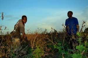 James Japheth with the farm manager -Lucas -
