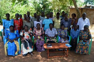 Group photo with Gema Kumwino group in Bwologoma
