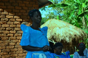 Nakawoma Margaret participating in the focus group discussion