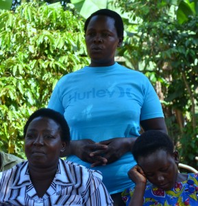 Ms. Sarah Mutanda speaking during a Focus Group discussion in  Bwologoma