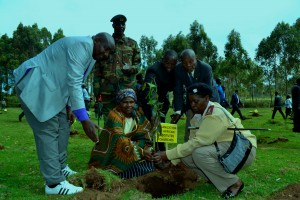 OAIC Family planting the OAIC tree during the function.