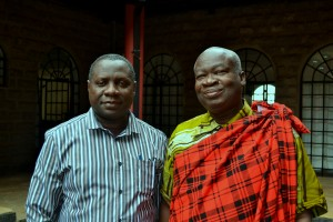 The OAIC International Chairman the Most Reverend Dr. Daniel Okoh with Professor Oduro in Nairobi.